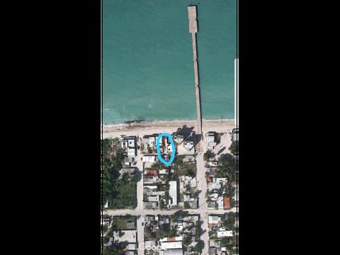 se vende terreno frente al mar chuburna puerto