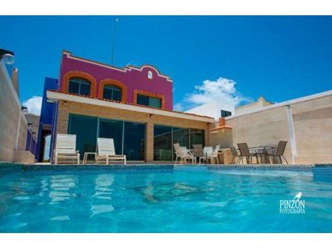 se renta casa frente al mar en uaymitun yucatan