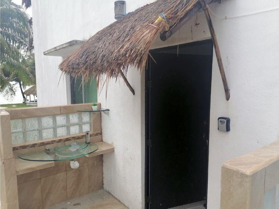 se renta casa frente a laguna de bacalar q roo mexico