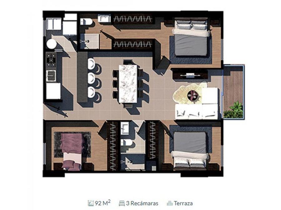 venta departamento a 5 min de interlomas 92 m2