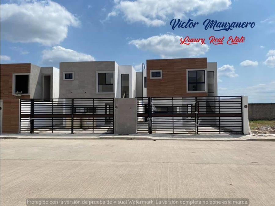 casas residenciales en privada con 3 recamaras alberca comun