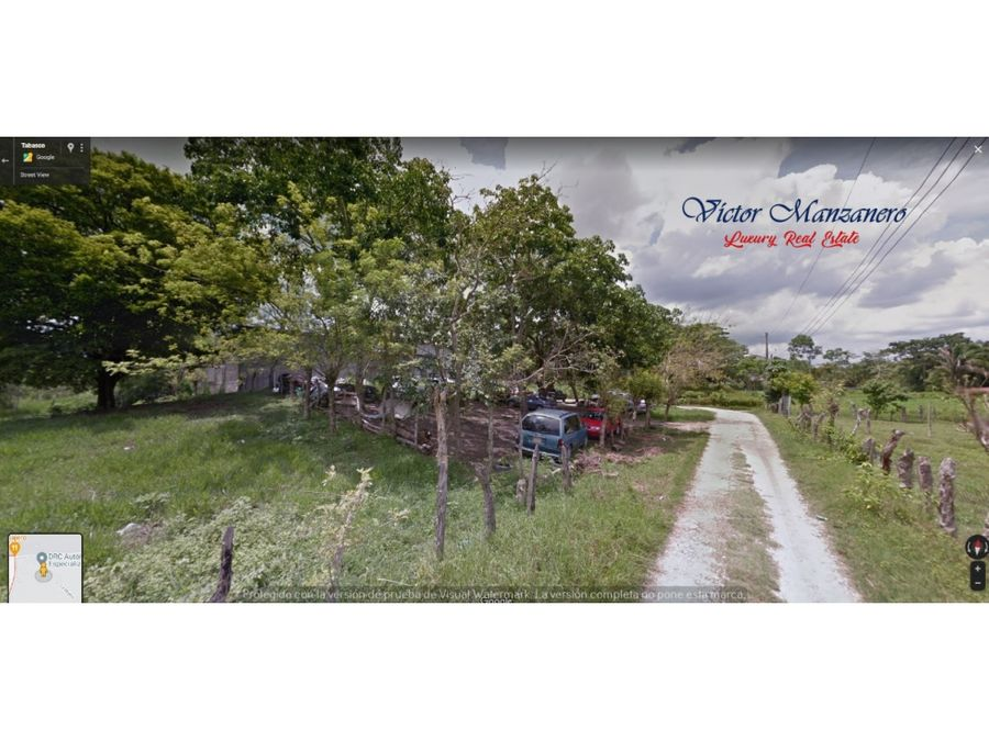 dos montes terreno en venta hacia el yumka villahermosa tabasco