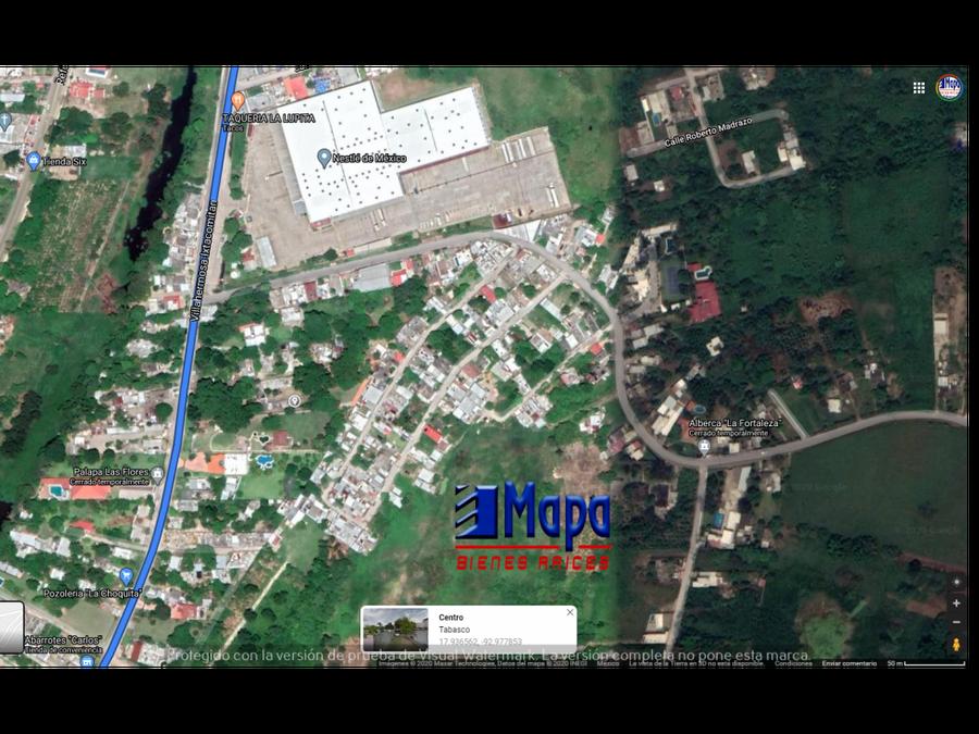 fracc paraiso tabasqueno terreno en venta ixtacomitan 2da secc
