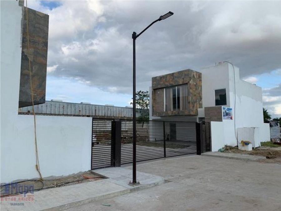 preventa casas 3 recamaras en privada dentro de periferia villahermosa