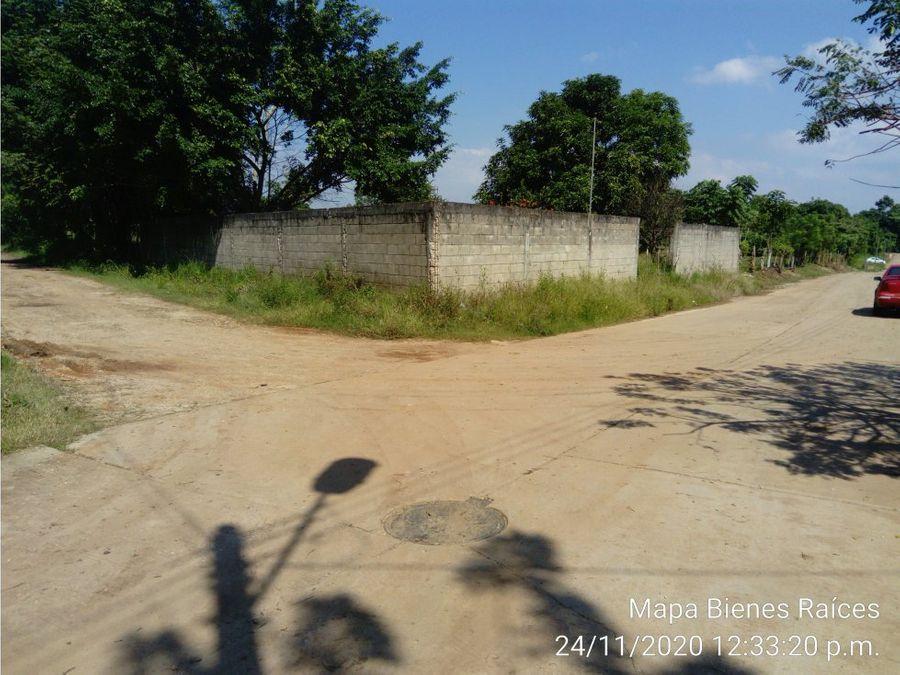 terreno en venta pueblo nuevo de las raices en villahermosa