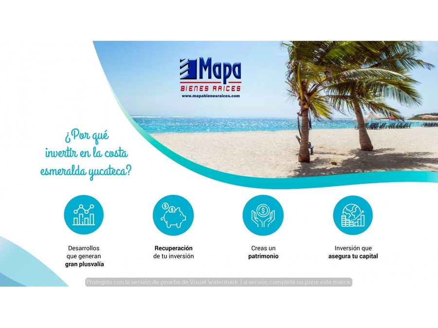 terrenos en privada cerca del mar con club de playa en merida yucatan