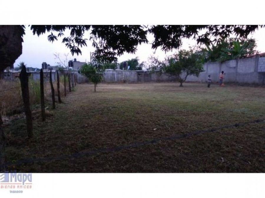 terreno en venta km 18 carretera a teapa en villahermosa tabasco