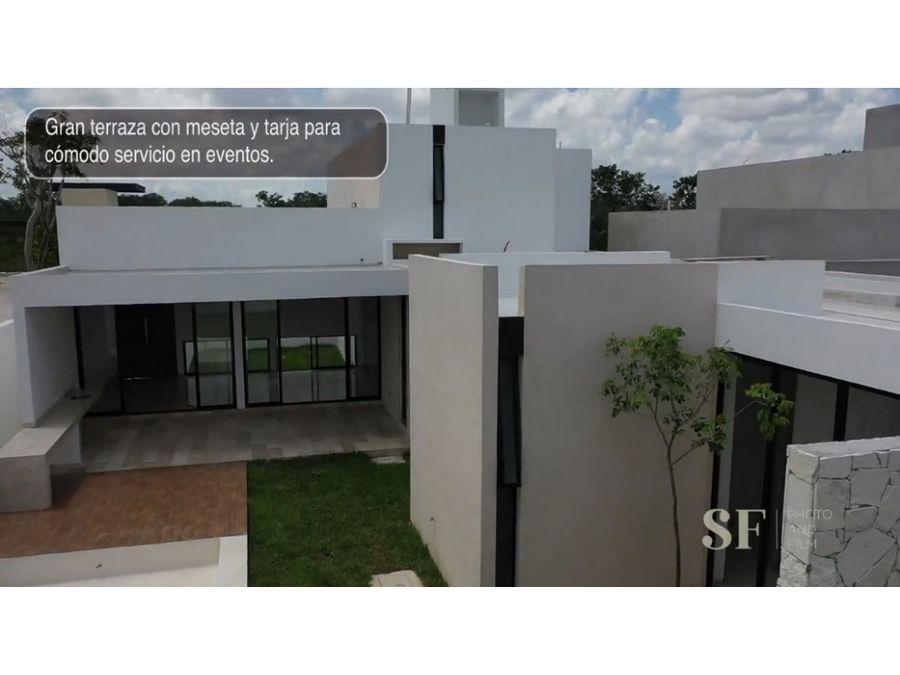 residencia en venta privada villarreal temozon