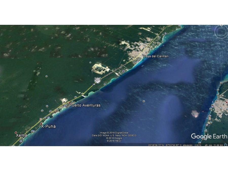 terreno 13 has 210 m playa x pto aventuras q roo