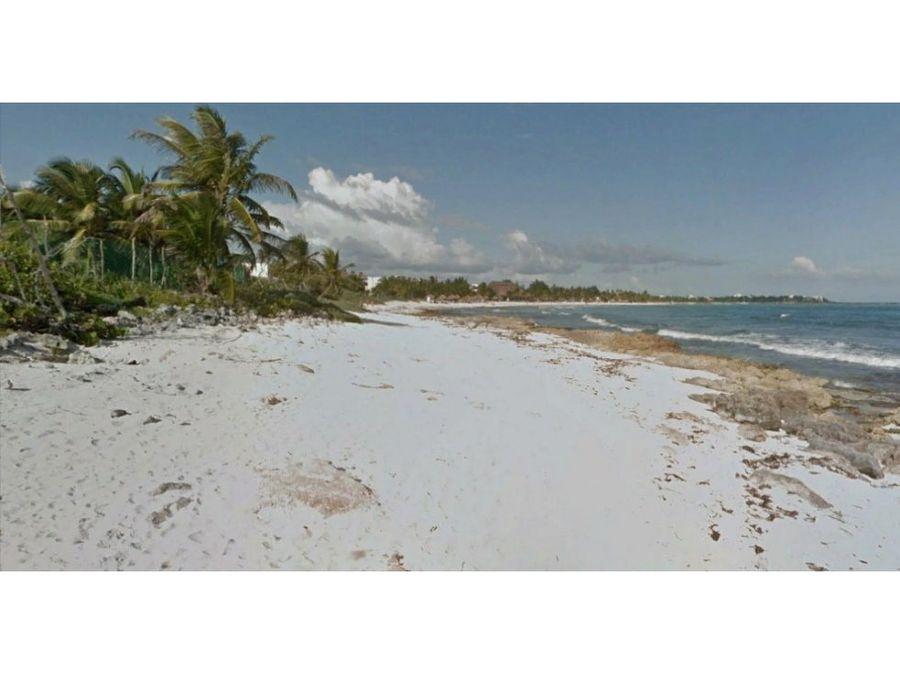 terreno en venta riviera maya 10 has 90 ml playa