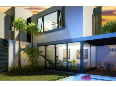 casa en venta kunay 23 modelo 2 pisos cholul