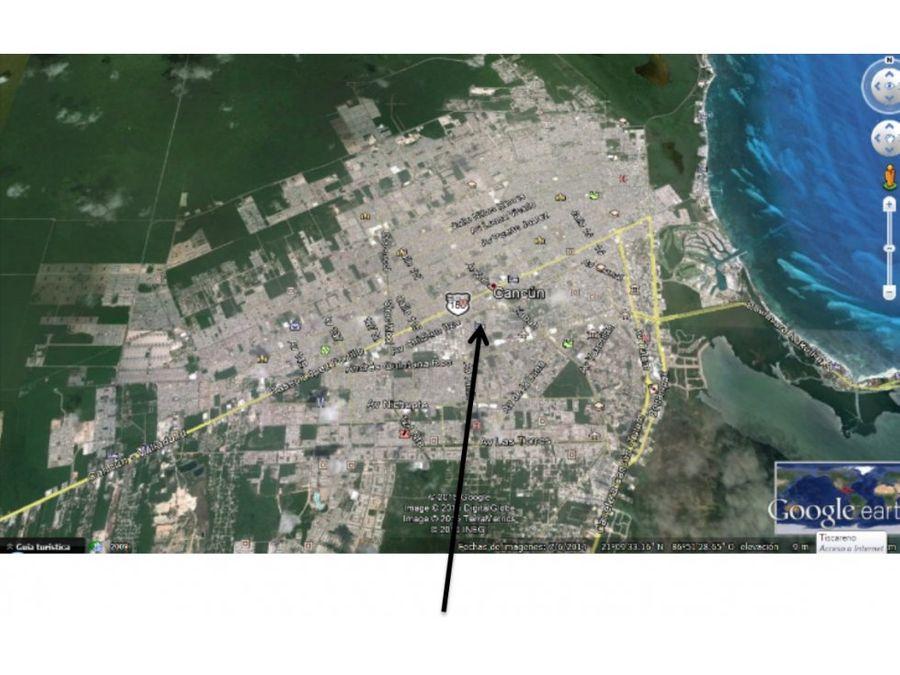 terreno en venta 21000 m2 av tikal cancun