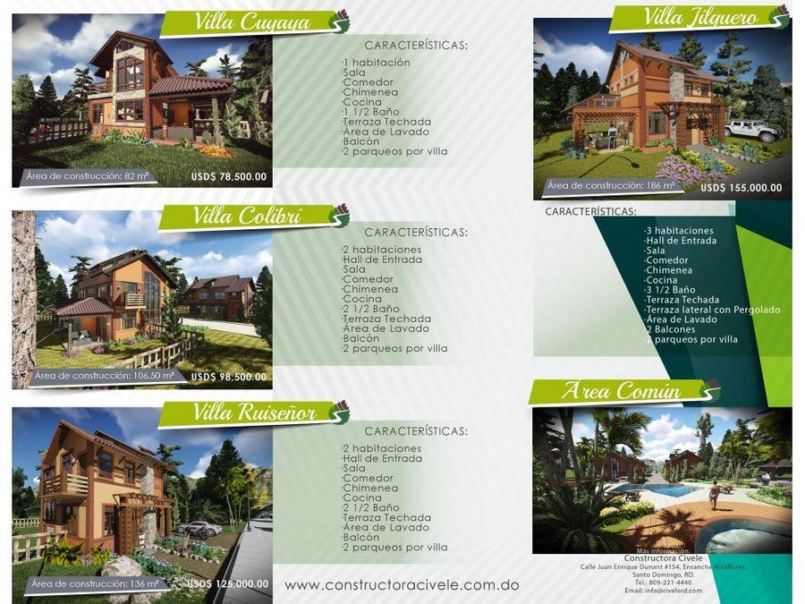 lujosas villas cuyaya en green park village