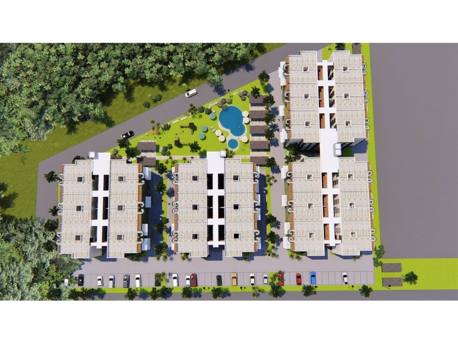 comodos apartamentos en residencial con piscina punta cana
