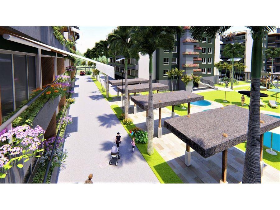 confortables apartamentos con piscina en punta cana