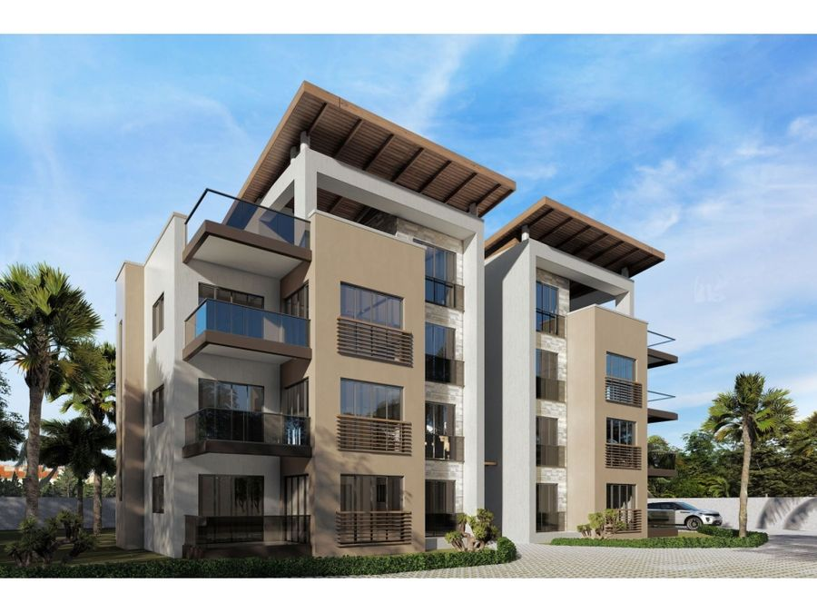 atractivo complejo de apartamentos en punta cana