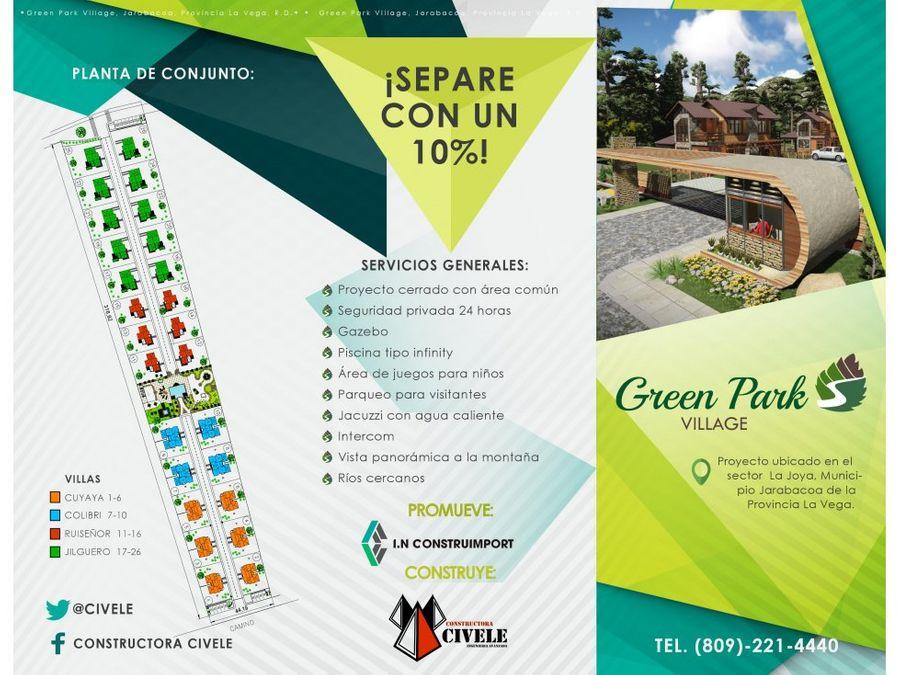lujosas villas colibri en green park village