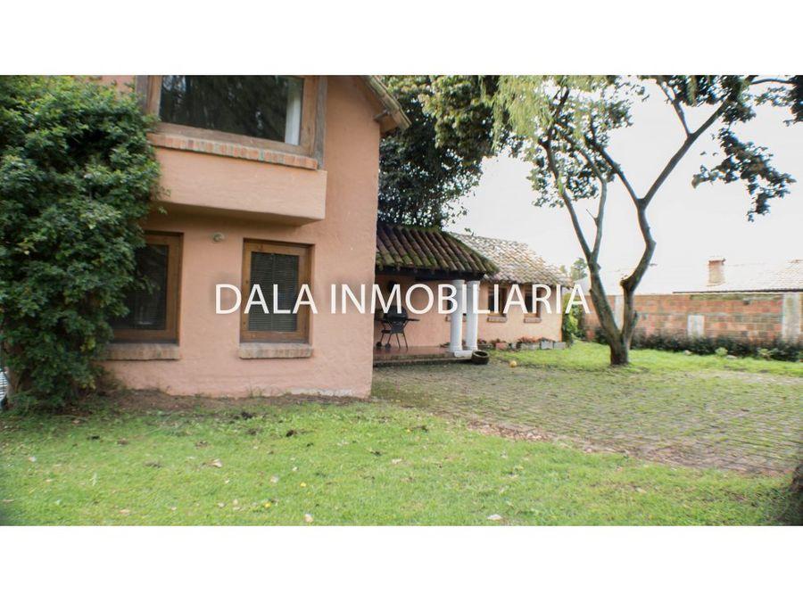 se vende casa campestre guaymaral chia