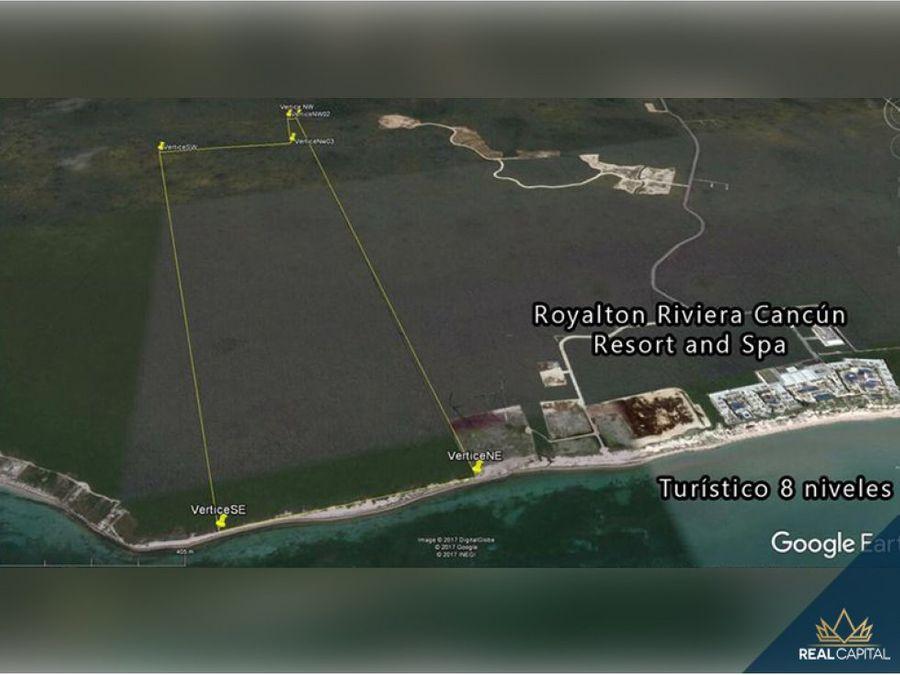 venta de terreno hotelero puerto morelos qroo