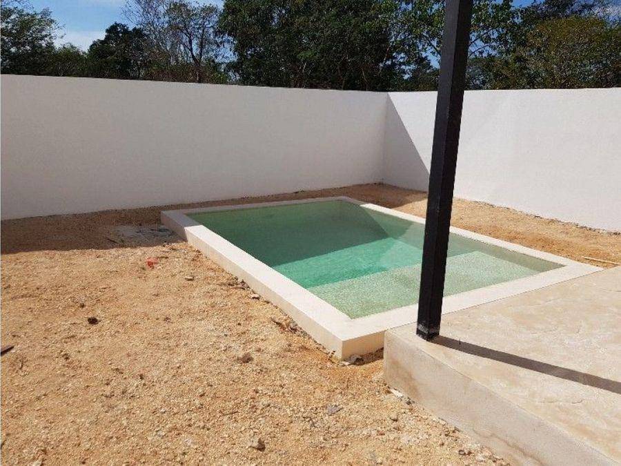 casa minimalista en real de montejo