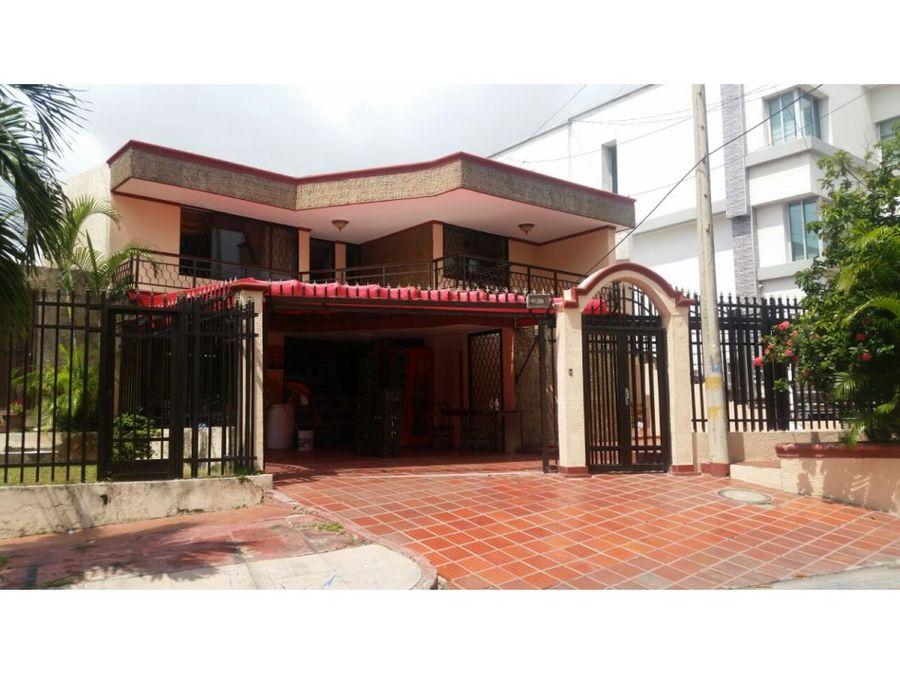 casa en venta en ciudad jardin barranquilla