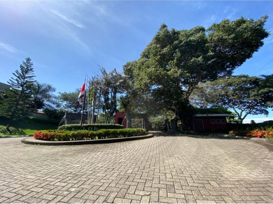 spacious lot in a secure peaceful community