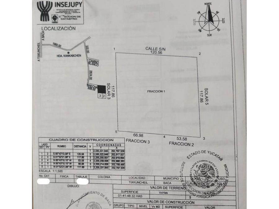 terreno de 14 hectareas en venta tixkuncheil yaxkukul