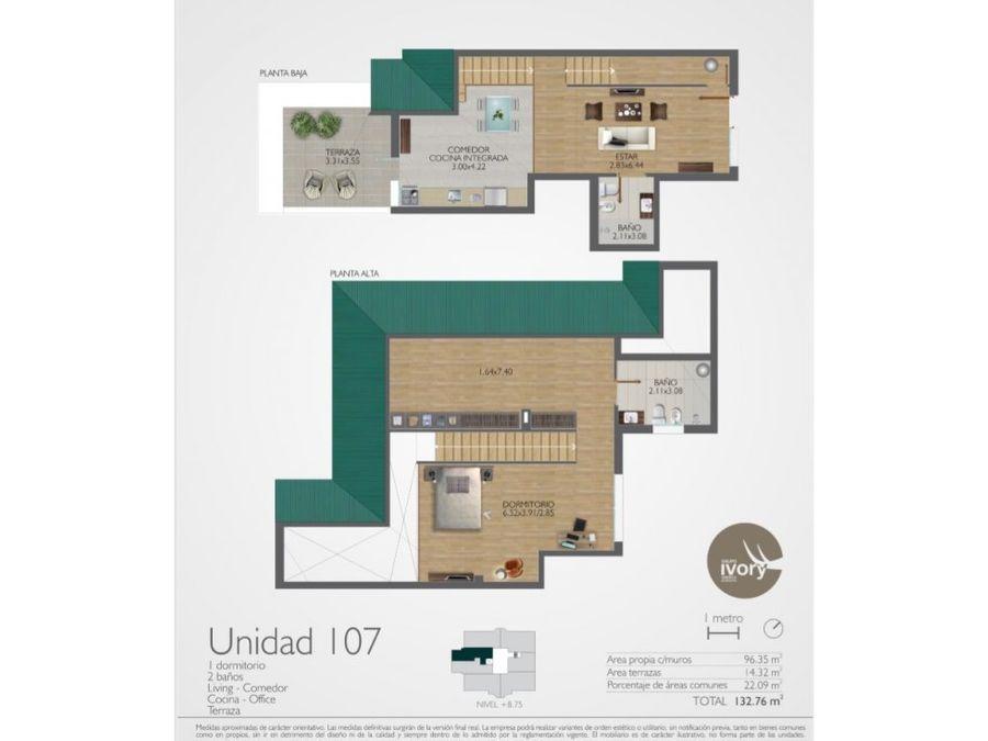 prado exclusivo triplex un dormitorio terraza