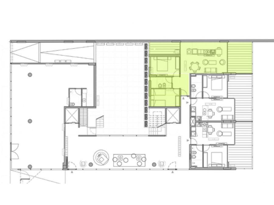 centro dos dormitorios con patio
