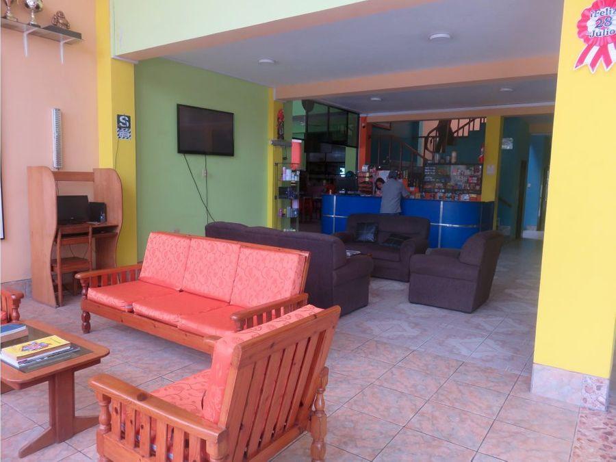 vendo hostal equipado en yurimaguas loreto