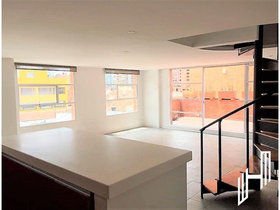 arriendo apartamento duplex con terraza en rosales
