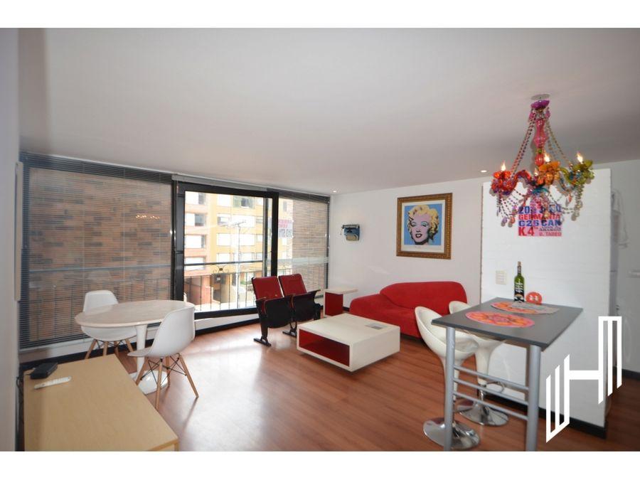 arriendo moderno apartamento amoblado en el nogal