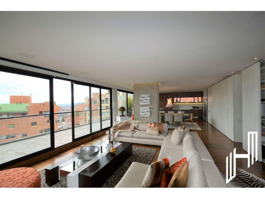 moderno apartamento con terraza para venta en rosales