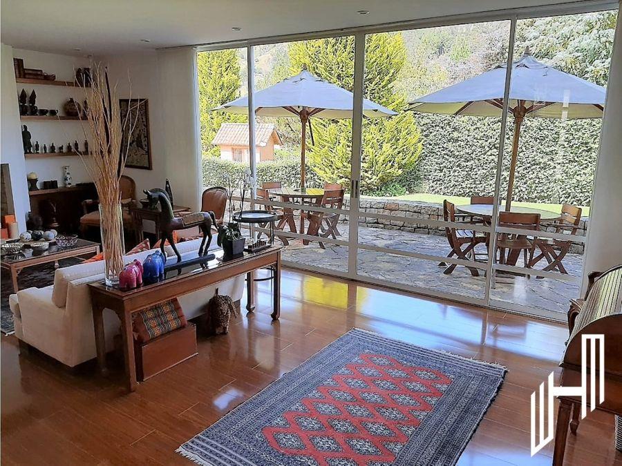 casa campestre para venta en la urbanizacion teusaca via a la calera