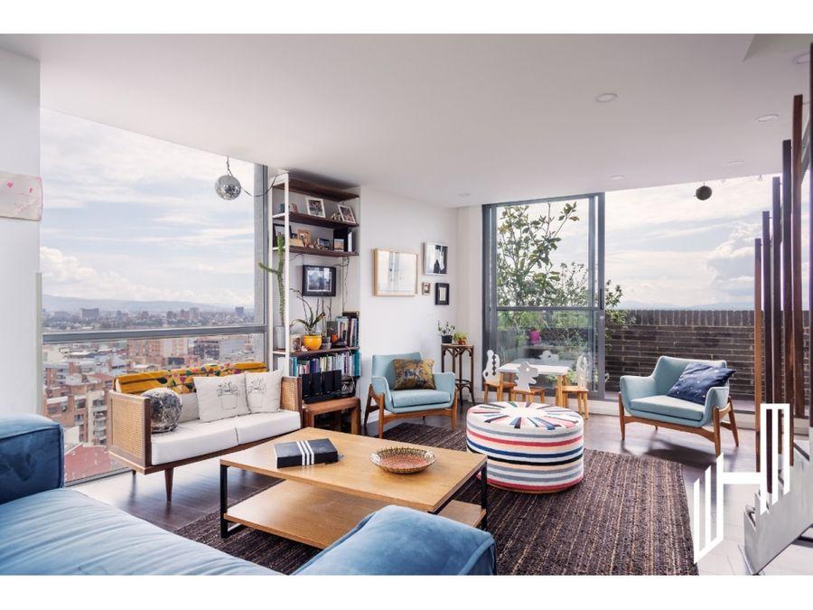 venta penthouse con terrazas chapinero alto