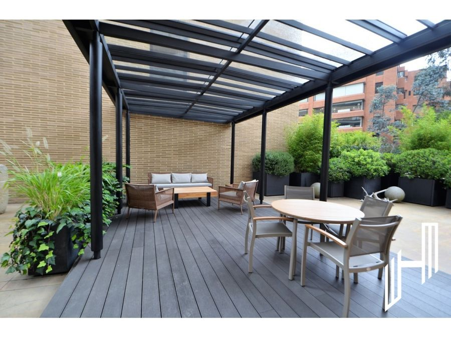 apartamento amoblado con terraza para arriendo en rosales