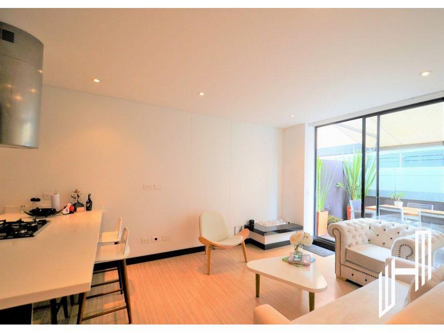 apartamento con terraza de 36 m2 para venta en la calleja