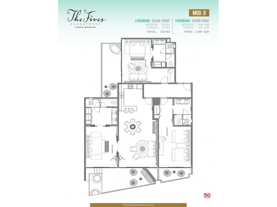 luxury 3 bed ocean fully furnished front tfpm