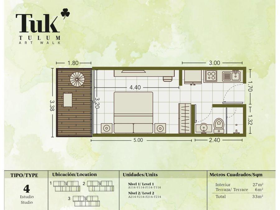 luxury studio en tulum tk