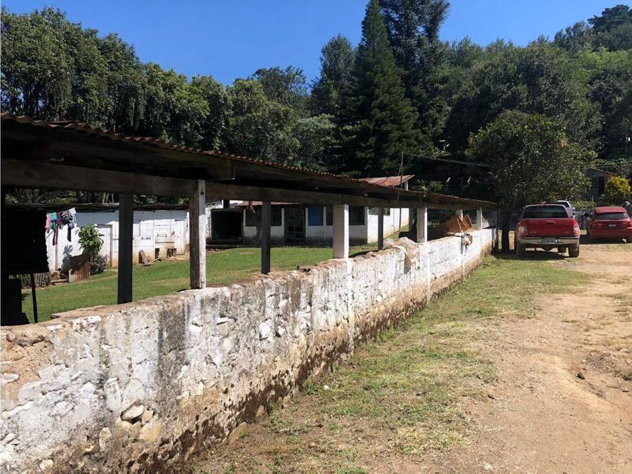 vendo finca en aldea chichimecas villa canales