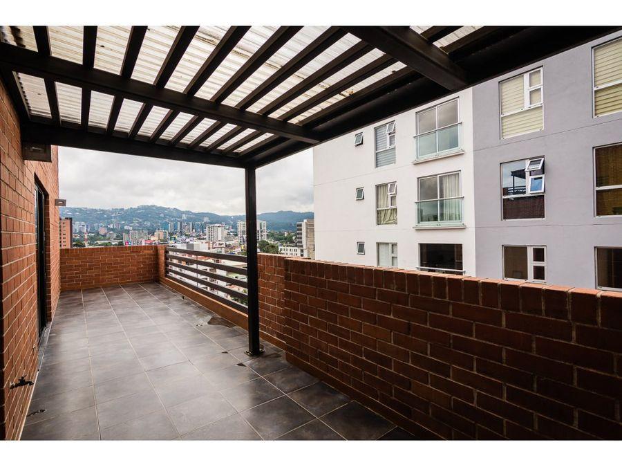 espacios grandes y bonita terraza zona 10