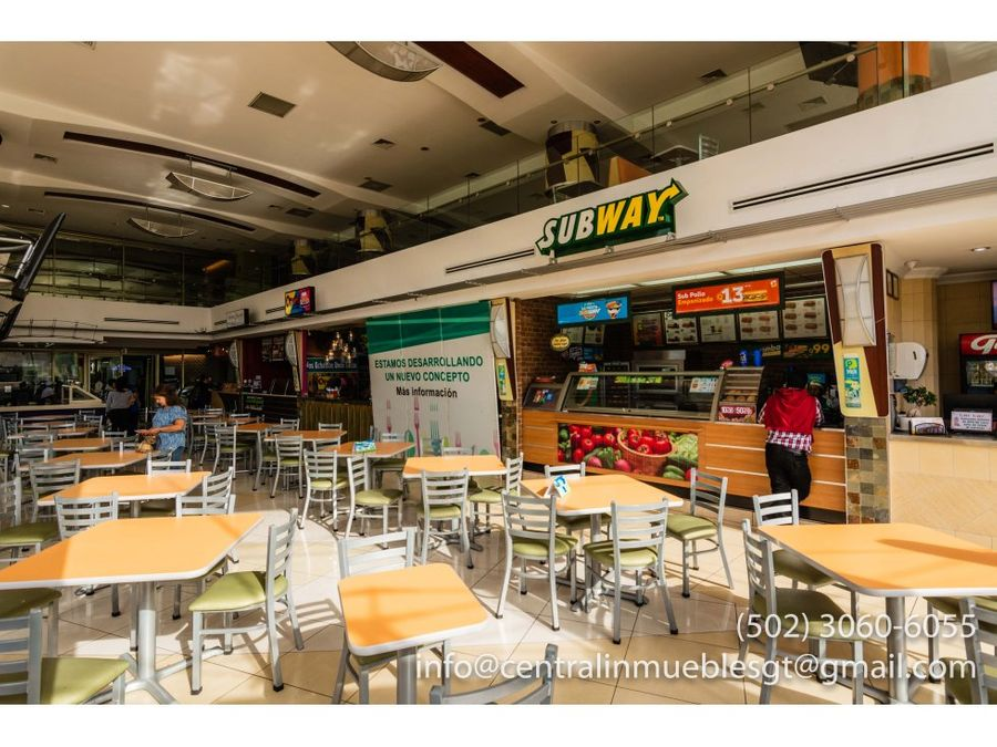 local comercial food court zona 10