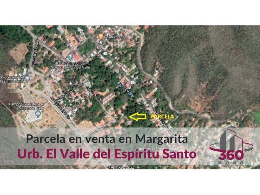 parcela de terreno en el valle isla de margarita