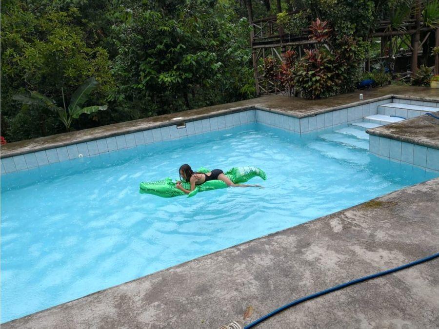 quinta con piscina y rancho la virgen sarapiqui