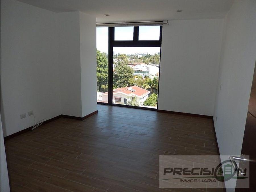 apartamento en alquiler zona 15 edificio nivo