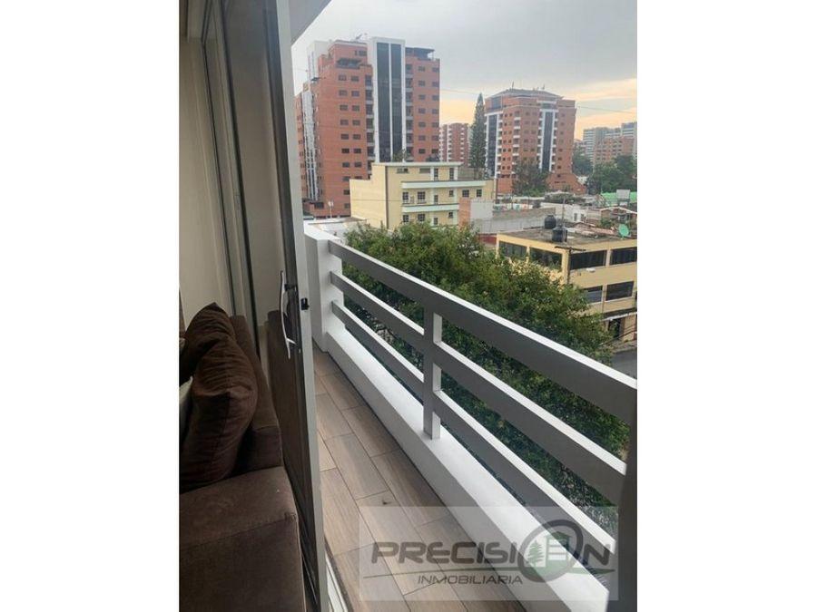apartamento amueblado en zona 10 edificio bresciani