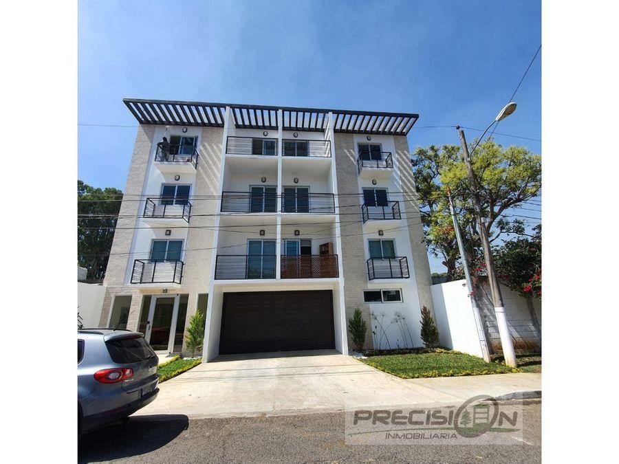 apartamento con terraza en alquiler zona 15 edificio emerge 15
