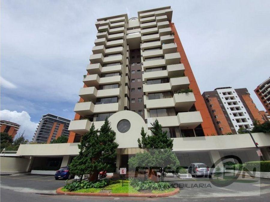 apartamento en alquiler zona 14 edificio casa alta