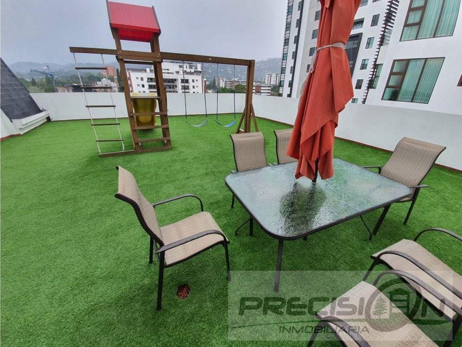 apartamento en alquiler zona 15 edificio fontainebleau