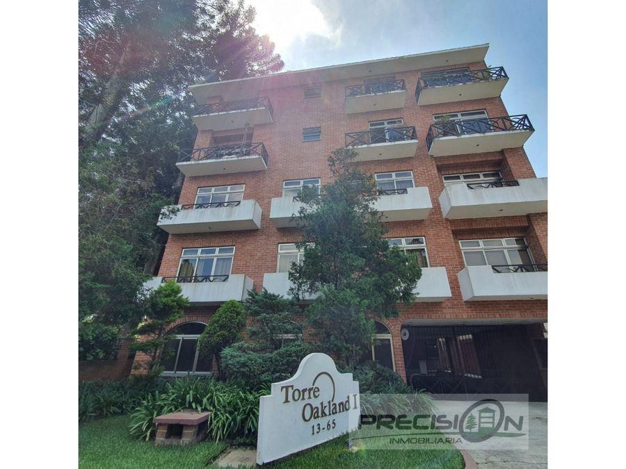 apartamento en alquiler zona 10 edificio torre oakland i